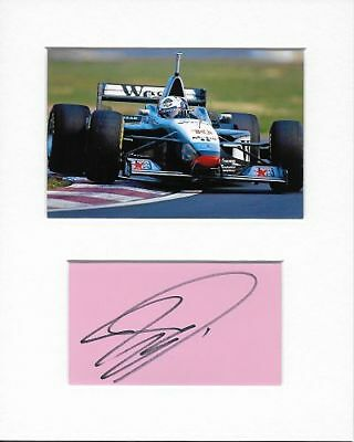 Formula 1 McLaren David Coulthard Genuine Authentic Hand Signed Autograph AFTAL