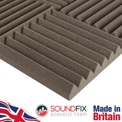 48x SoundFix Acoustic Foam Tiles - 50mm thick 300mm Studio Sound Room Treatment