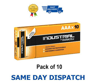 10 X Duracell AAA Industriel Procell Piles Alcalines LR03, MN2400