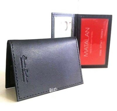 Credit Card, Travel Pass, Oyster ID Holder Genuine Leatherite Black