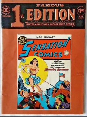 DC COMICS Famous First Edition Wonder Woman Bronze Treasury Ed. Free Shipping!