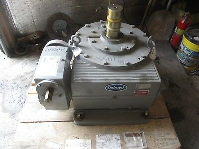 Delroyd Worm Gear #216132H Service Hp:10.8 Ratio:317.8-1 Output Rpm:5.51 Used