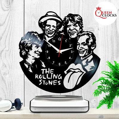 The Rolling Stones Rock Band Vintage LP Vinyl Record Wall Clock Gift Decor Ideas