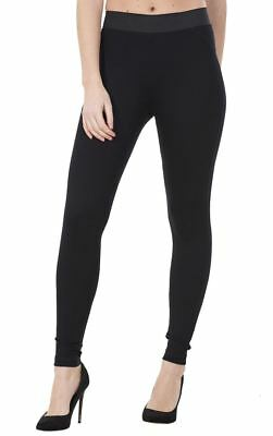 Ladies Skinny Black Stretch Full Length High Waisted Ankle Leggings