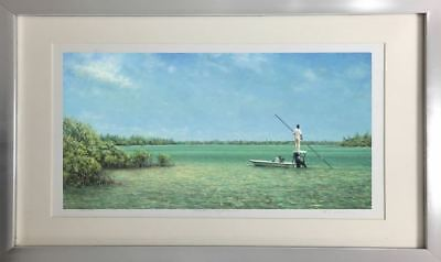 """Solitude"" by Tripp Harrison (Large Framed Fine Art Print Nautical Seascape)"