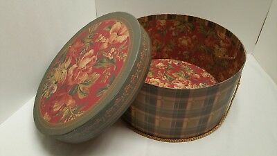 """Vintage 12"""" Hat Box, Raymond Waites Collection, Once Upon A Rose"""