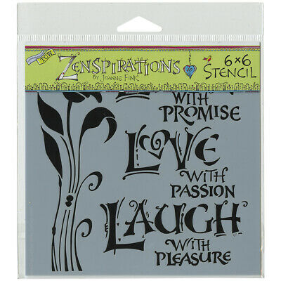 """Crafters Workshop Crafter's Workshop Template 6""""X6""""-Live, Love & Laugh (3Pk)"""