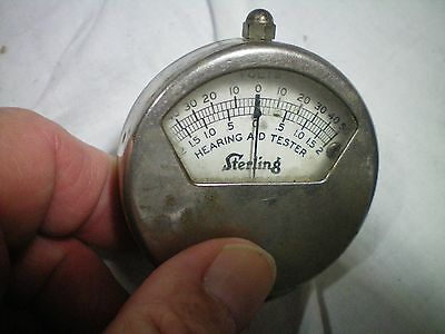 Antique VOLTAGE METER TESTER HEARING AID STERLING  CLEVELAND USA