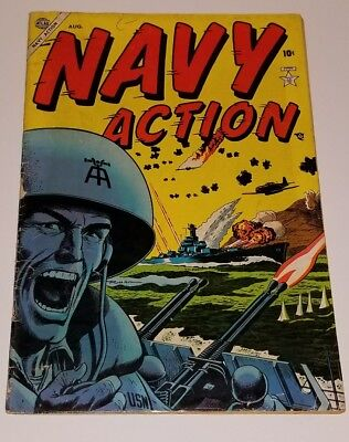 Navy Action #1 1954 Atlas Golden Age War Good condition