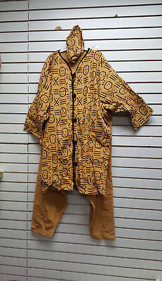 African Mud Cloth Print Heavy Clothes/Unisex/Mens/Womens PantSet BLOW OUT SALE 9