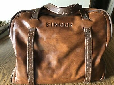 1984 Singer 4016 Sewing Machine - W/ Original Singer Leather Case-Tested/Working