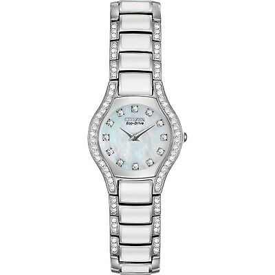 Citizen Eco-Drive Women's Normandie Crystal Accents 22mm Watch EW9870-81D