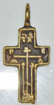 Nice Antique Old Believers Cross Christs Passion Byzantine Orthodox Crucifix
