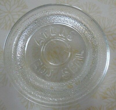 Vintage  Atlas Edj Clear Glass Seal For Canning Jar