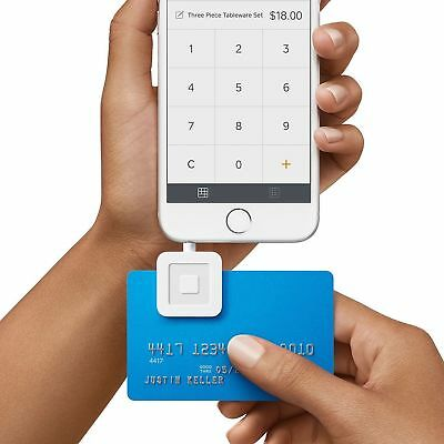 Brand New Square Credit Debit Card Reader for Apple iPhone and Android White