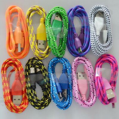 10 Pack 3Ft Braided Quick Charging Micro USB Cable For Samsung Galaxy S3 S4 S6 7