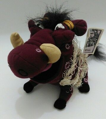 """Disney The Lion King Pumbaa Plush in Native Costume The Broadway Musical Tag 8"""""""