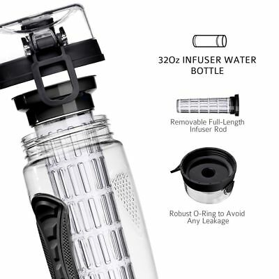 32oz Fruit Infusing Infuser Water Bottle Sports Detox Health