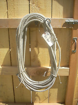 Vintage nautical #7- 1/2in.x90+ft. strong fiber sail rigging line w/ shackles
