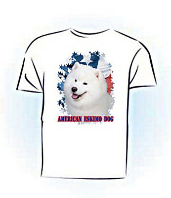 American Eskimo PERSONALIZED Stars & Strips Custom Made T shirt (gift