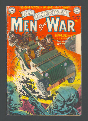 """ALL AMERICAN MEN OF WAR #128 (#2) """"1952"""". Low Grade due to piece out of cover."""