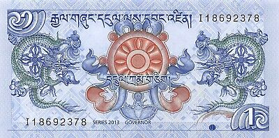 Bhutan 1 Ngultrum 2013, P.27 Dragon Uncirculated Unc