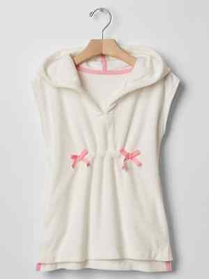 Gap Kids Toddler Girls Cozy Beach Cover Up Hoodie White #1950