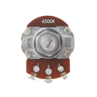 A500K OHM Metal Audio POTS Potentiometer 24mm Base Replace for Electric Guitar