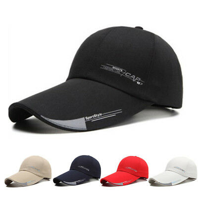 2019 Mens Sports Cap For Fish Outdoor Baseball Cap Long Visor Brim Shade Sun Hat