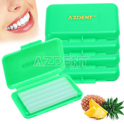5 Box AZ Dental Orthodontics Wax Dark Green- Pineapple For Braces Gum Irritation