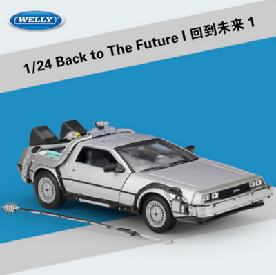 Welly 1:24 Back to the Future 1 Delorean Time Machine Diecast Model Car Toy New