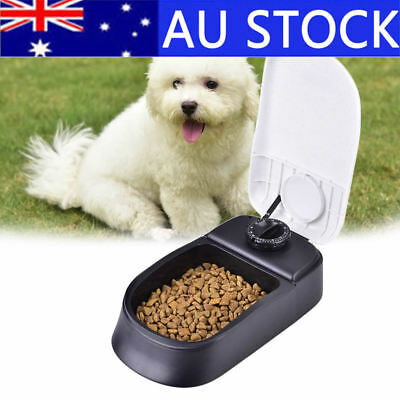 Automatic Pet Feeder Bowl Dog Cat Puppy Food Dispenser Meals Wet Dry Set Time