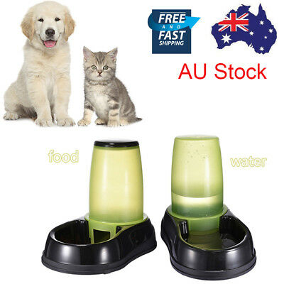 Pet Dog Cat Puppy Water / Food Automatic Feeder Fountain Bowl Dish Dispenser Hot