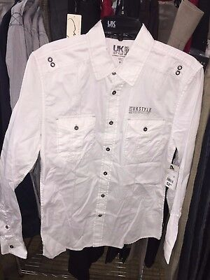 09406bd76f99 French Connection Mens UK Style True White Long Sleave Shirt Small Size 80%  OFF