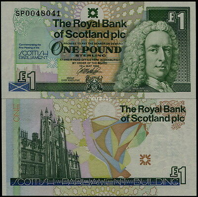 Great Britain Scotland Royal Bank 1999 Commemorative Banknote 1 Pound UNC
