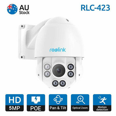 5MP PoE IP Camera Pan/Tilt & 4x Optical Zoom Security Camera Reolink RLC-423