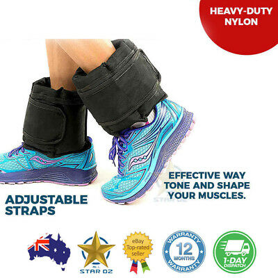 Ankle Weight Wrist Weight Strap On Adjustable 5kg 2X Gym Fitness Training Bands