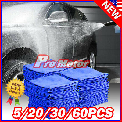 50 Pack Microfiber Cleaning Cloth Towel No-Scratch Rag Car Polishing Detailing