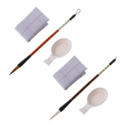 Rewritable Calligraphy Water Writing Cloth Chinese Calligraphy Pen Brush Set