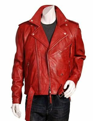 New Men's Slim Fit Biker Leather Jacket Coat Vintage Classic SMALL to 4XL NMJ