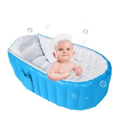 Bath Tub Inflatable Safety Toddler Baby Newborn Summer Winter Shower Bathing