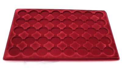 New Red SCHULZ TRAY (PO-40) Ideal For £2, 50p Coins - Compartment Size ø 32mm UK