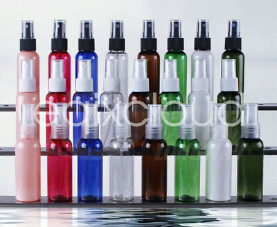 50ml Plastic Perfume Atomizer Empty Plastic Spray Bottle Sub-Bottling 7 Colors