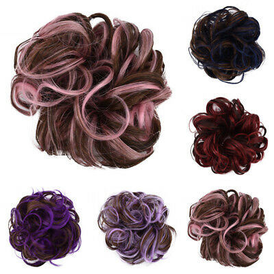Women Curly Messy Donut Hair Bun Scrunchie Hairpiece Extension Tools Charming