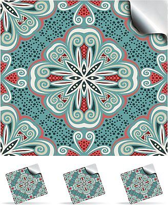 Tile Stickers Moroccan Mosaic Effect DIY Decal Transfers Kitchen + Bathroom TP80