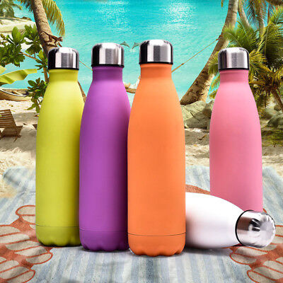 500ML Cola Style Vacuum Insulated Stainless Steel Water Bottles Outdoor Hiking