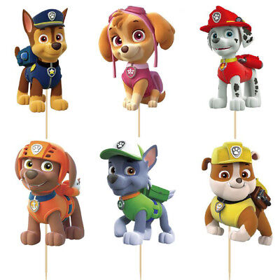Cake Topper Figurine Figure Decoration Birthday Characters - PAW PATROL set