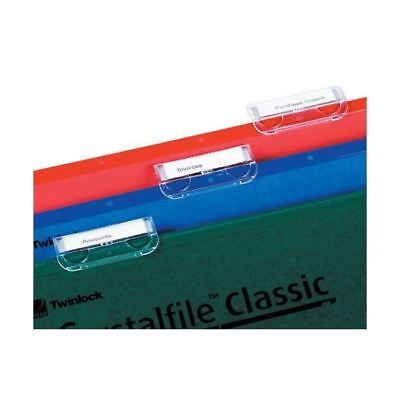 Rexel CrystalFile 330 Lateral File Inserts For Lateral File Tabs White [TW70676]