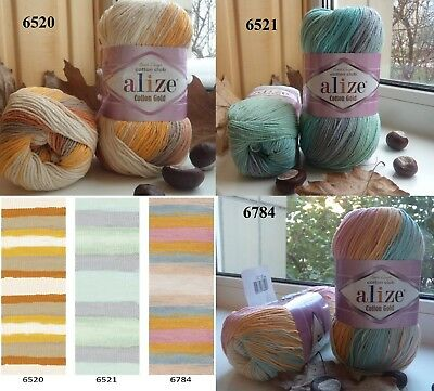 Cotton yarn Alize Cotton Gold batik yarn multicolor yarn colorful yarn rainbow