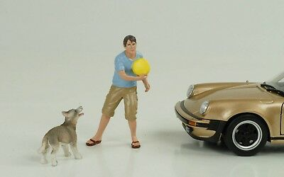 MAN WITH DOG / Man and Dog Figurines Set Figure 1:24 FIGURINES AMERICAN DIORAMA